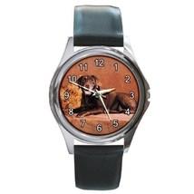 Labrador Retriver Chocolate Unisex Round Metal Watch Gift model 16970957 - $13.99