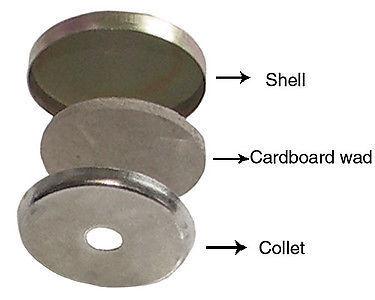 "50:Osborne Button-Unassembled Nail/ Tack Mold w/Shells, Size 22: 9/16"" dia"