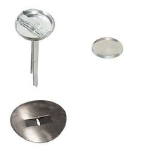 50: Osborne Covered Button Kit-Prongs, Soft Shell & Spring Washer #15 SI... - $17.82