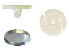 144:Osborne Covered Button Kit-Nylon Super Hook, Soft Shells,Poly Washer... - $26.10