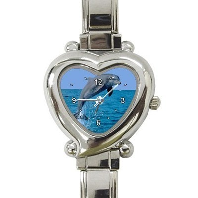 Ladies Heart Italian Charm Bracelet Watch Dolphin Gift model 17741478