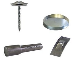 50:Osborne Threaded Nail Button Kit:36 (nail/shell/washer) w/Concave Too... - $31.02