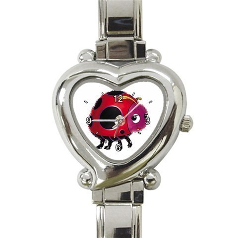 Ladies Heart Italian Charm Bracelet Watch Ladybug Eyes Gift model 26479798