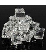 10 X Square Fake Scatter Artificial Acrylic Ice Cubes Crystal Simulation 20*20mm - £2.96 GBP