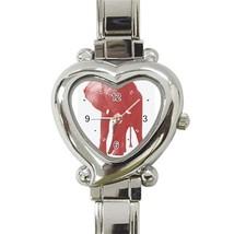 Ladies Heart Italian Charm Bracelet Watch Pink Elephant Gift model 17469672 - $11.99