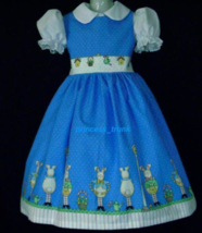 NEW Handmade Daisy Kingdom Happy Spring Bunny Border Custom Sz 12M-14Yrs - $59.98