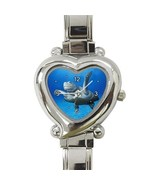 Ladies Heart Italian Charm Bracelet Watch Sea Turtle Gift model 26414025 - £9.69 GBP