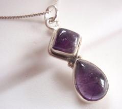 Purple Amethyst Pendant 925 Sterling Silver Corona Sun Jewelry 652g - $177,07 MXN