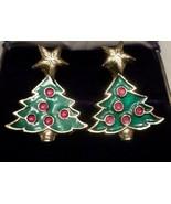 Star-topped CHRISTMAS TREE post  earrings for pierced ears in gift bag  - $5.93