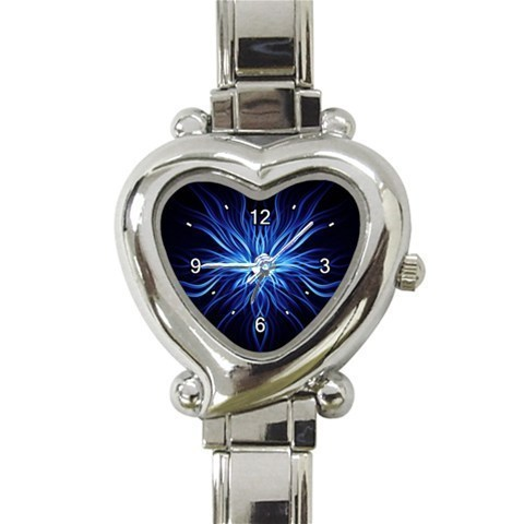Ladies Heart Italian Charm Bracelet Watch Weird Blue Gift model 26397882