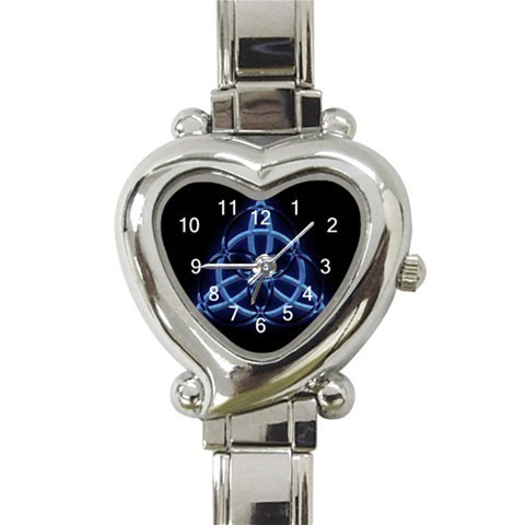 Ladies Heart Italian Charm Bracelet Watch Wiccan Blue Pegan  Gift model 26422026