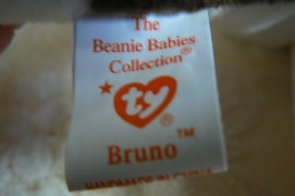 "Rare TY Original Beanie Babies "" Bruno "" The Dog Errors- #4183-Retired-Error image 5"