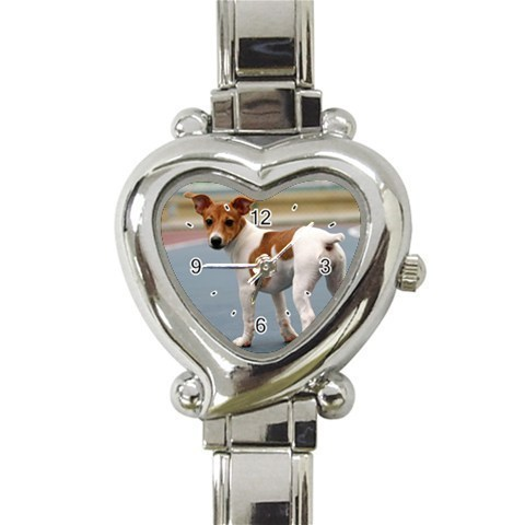Ladies Heart Italian Charm Watch Jack Russell Terrier Dog Gift model 26424289