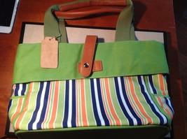 New Howard's Arianna Green White Blue Orange Purse Light Green Cloth Magnetic