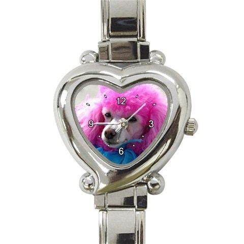 Ladies Heart Italian Charm Watch Poodle Dog Pet Animal Gift model 26562948