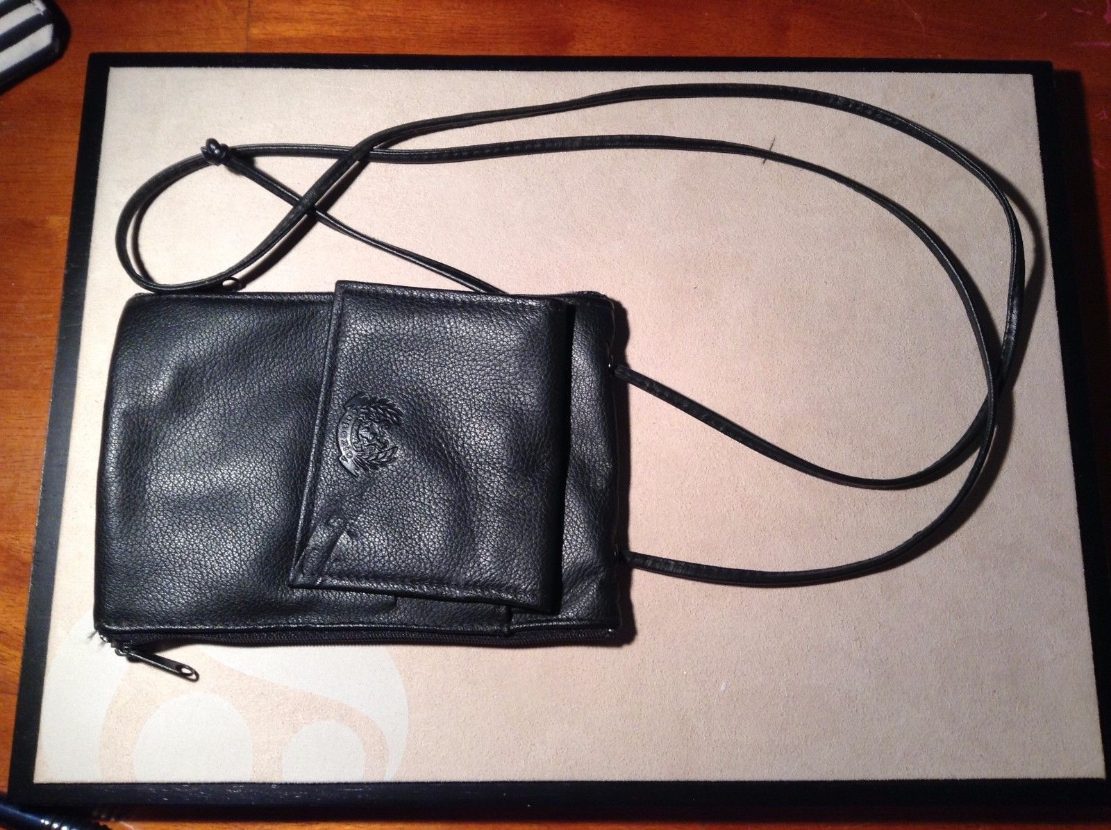 New Capezic Genuine Leather Black Wallet Four Pockets
