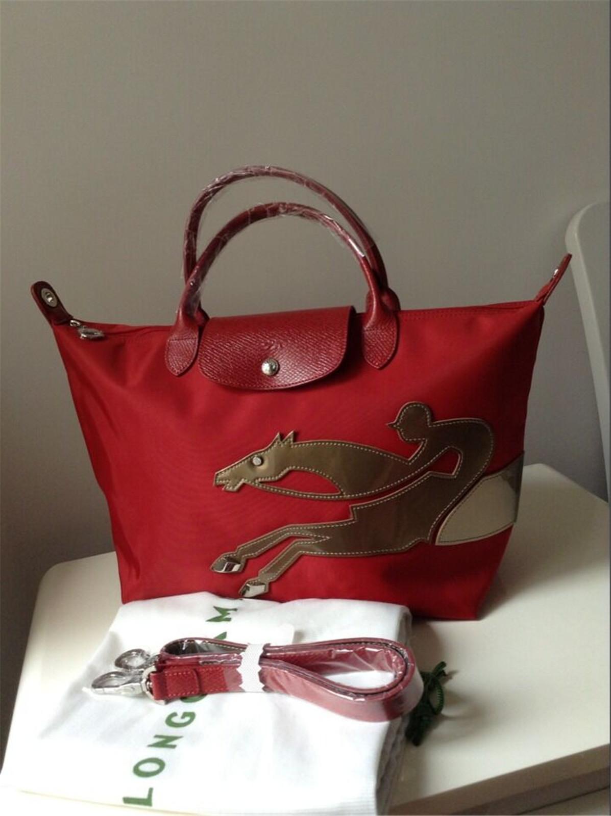 France Made Longchamp Le Pliage Année Du and 50 similar items. Longchamg  redhorse 41fb93210ffa1