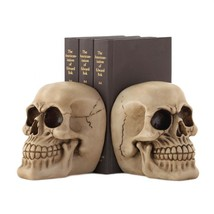 Skulls of Twins Haunted Ghoulish Macabre Book Holding Halloween Decor Bo... - ₨2,888.83 INR
