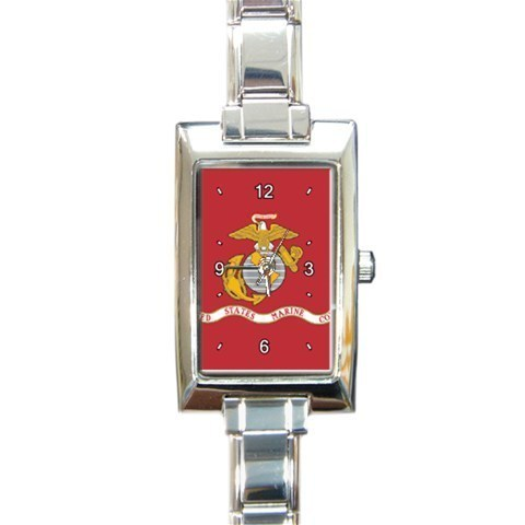 Ladies Rectangular Italian Charm Watch US Marine Corps Flag Gift model 22566384