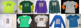 Nike Boys Long Sleeve T-Shirts Various Colors Patterns Sizes 4, 6 and XL 20 NWT - $17.98