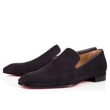 Handmade men Black color suede leather moccasins,Shoes,slip ons, Mens shoes - $159.99