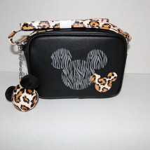 Disney Parks Animal Kingdom Mickey Mouse Leopard Crossbody Purse