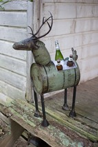 Reclaimed Metal Barrel Deer Planter/Beverage Tub Ice Cooler Industrial S... - $188.10