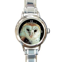 Ladies Round Italian Charm Bracelet Watch Barn Owl Gift model 30334826 - $11.99