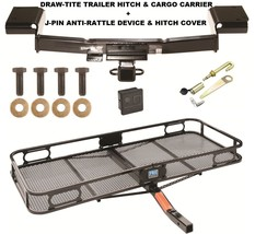 TRAILER HITCH + CARGO BASKET CARRIER + SILENT PIN LOCK FITS 10-15 HYUNDA... - $320.71