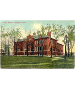 The High School Dowagiac Michigan Vintage Post Card - $6.00
