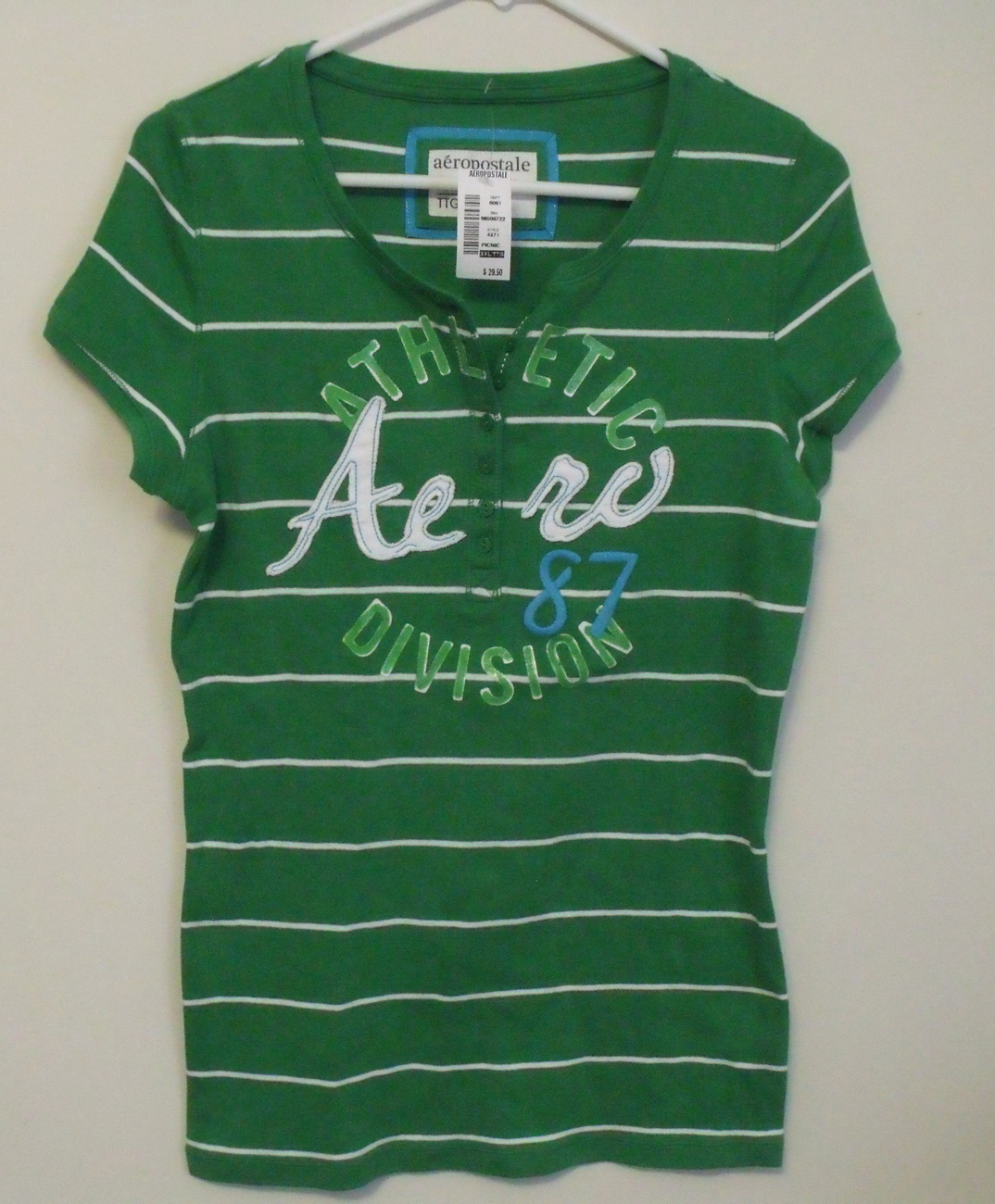 Aero tshirt green front