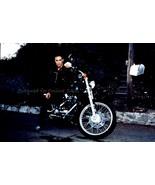 Brandon Lee Martial Arts on Motorcycle 4x6 Photo 39461 - $4.99