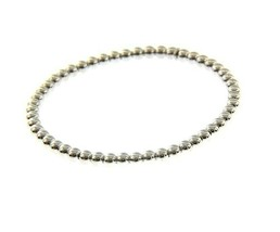 18K WHITE GOLD BRACELET, SEMIRIGID, ELASTIC, 4 MM SMOOTH BALLS SPHERES - $1,130.88