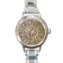 Ladies Round Italian Charm Bracelet Watch Celestial Sun & Moon Gift 1948... - $11.99