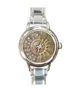 Ladies Round Italian Charm Bracelet Watch Celestial Sun & Moon Gift 1948... - $15.92 CAD