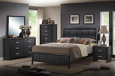 Classic Monet Platform Bed Set with 2 Night Stands by MYCO Furniture 3pcs Queen