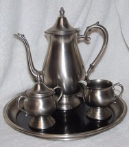 F. B. ROGERS PEWTER COFFEE SET - $23.36