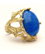 Handmade 14k Blue Gold Lapis Claw Cocktail Ring... - $798.00