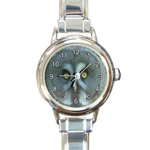 Ladies Round Italian Charm Bracelet Watch Great Grey Owl Gift model 30334827