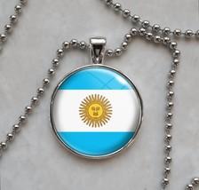 Argentina Argentinian Flag Bandera Pendant Necklace - $14.85+