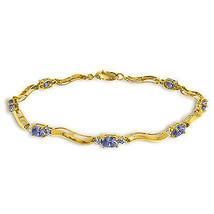 2.01 Ctw 14K Solid Gold Fine Bracelet with Authentic Natural Tanzanite D... - €379,24 EUR