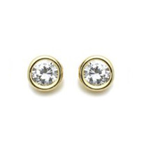 14K GOLD PLATED EARRINGS ROUND SHAPE  Screw Back ON SALE ! - $11.76