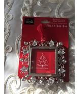 "Studio Decor Squar Rhinstone Christmas Ornament photo Frame 2"" X 2"" NEW - $12.82"