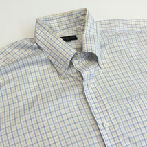 Robert Talbott Blue Yellow Checker Men's 16 36 Cotton Dress Shirt - €15,57 EUR