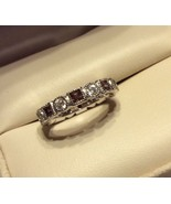 ETERNITY Square & Round stones  CZ Stack Band R... - $13.23