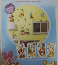 Disney Winnie the Pooh Self-Stick Room Appliques 76 Removable Stickers - New - $6.25