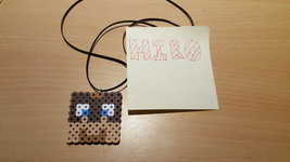 minecraft L for lee necklace game fuse pixel art sprite perler bead - $4.00
