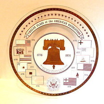 Bicentennial Plate Twelve Flags of The American Revolution 1776 1976 - $52.42