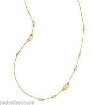 Auth New Tory Burch Gemini Link Convertible Necklace 16k Gold with Dust ... - $153.45