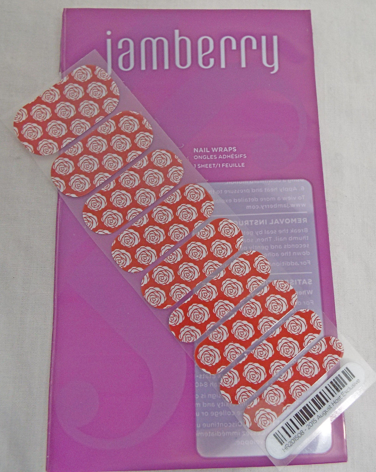 Primary image for Jamberry August Host Exclusive 2015 HR201508 Nail Wrap ( Half Sheet )